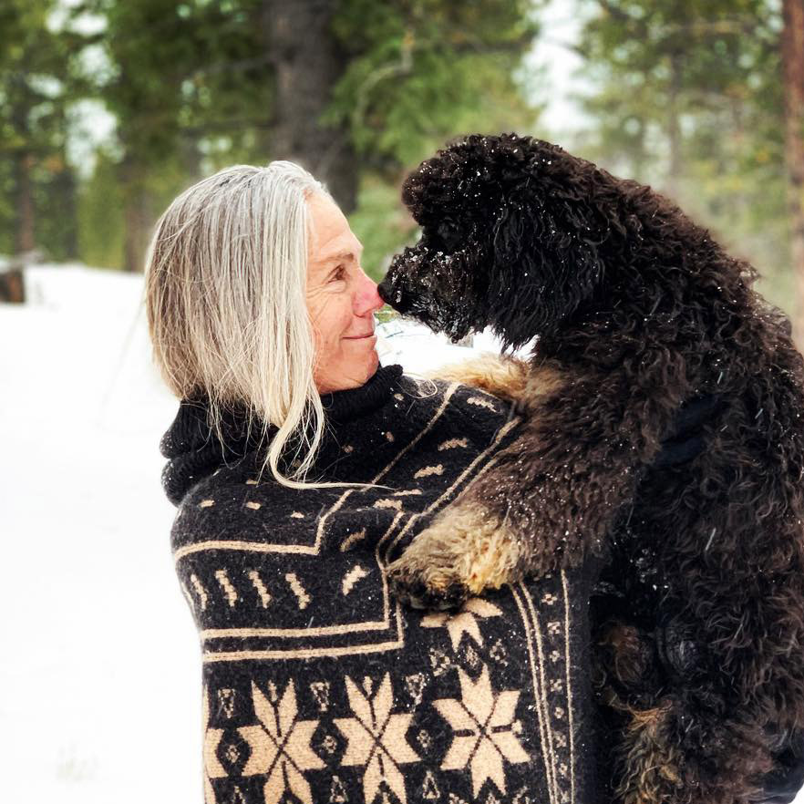 Trinity Alps Bernedoodles Owner and Dog